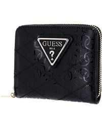 Guess Astrid SLG Small Zip Around Black - Noir