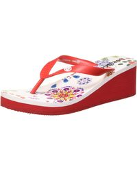 Desigual Shoes LOLA Galactic Zehentrenner - Rot