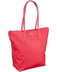 Lacoste Handbag - Bolsa de la Compra de Material sintético Mujer - Rojo