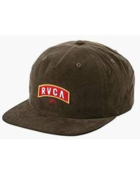 1cd33880a953d3 Lyst - RVCA Everett Snapback Hat in Black for Men