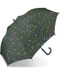 Esprit Long Little Leaves Umbrella - Green
