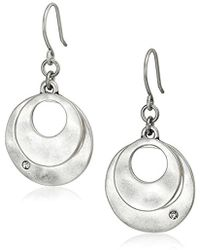 Kenneth Cole - Silver-tone Layered Earrings - Lyst