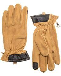 Timberland Nubuck Touch-Screen Handschuhe Gelb