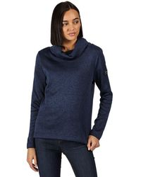 Regatta Hedda Knit Effect Overhead Fleece with Cowl Neck Sweater - Azul