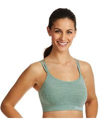76847f006882c Medium Impact Butterfly Strap Sports Bra Removable Cups - Green