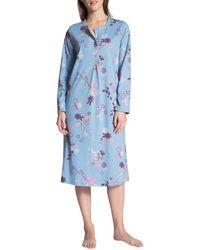 CALIDA Cosy Cotton Nights Camicia da Notte - Blu