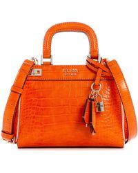 Guess Katey Mini Satchel Orange