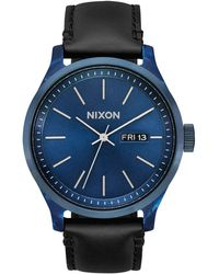 Nixon Armbanduhr Sentry Luxe Blue Acetate / Black - Blau