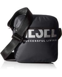 DIESEL BOLDMESSAGE F-BOLD DOUBLECROSS Cross Bodybag - Blau