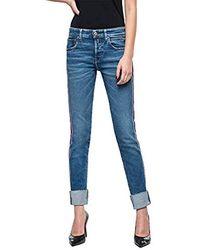 Replay Heter Jeans Boyfriend Donna - Blu