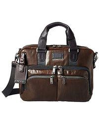 """Tumi Albany Slim Commuter Brief 14"""", Leather Sac Mallette, 37 cm, - Marron"""