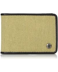 Lee Jeans - Canvas And Leather Slimfold Rfid Blocking Wallet - Lyst