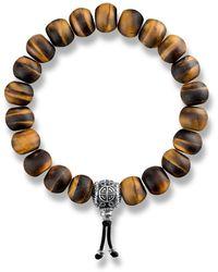 Thomas Sabo - S s-Bracelet Power Bracelet Ethnique Marron Rebel at heart Argent Sterling 925 Longueur 18 cm A1703-826-2-L18 - Lyst
