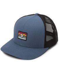 Volcom Stone Hill Cheese Snapback Trucker Hat - Blue