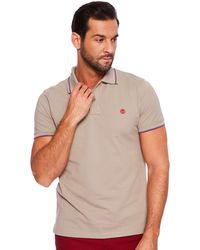 Timberland - SS Millers River Pique Tipped Polo Slim - Lyst