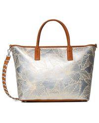 Desigual Bols Akela Holbox 20saxp82 Bag Plain Silver - Metallic