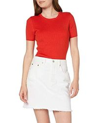 Levi's HR Decon Iconic BF Skirt Falda para Mujer - Blanco