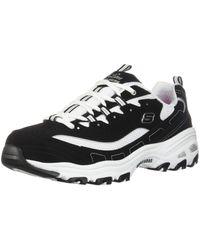 "Skechers Chunky sneakers de 3.0"" monocromáticas en blanco y negro D'Lite"