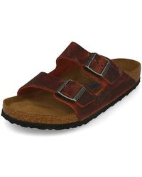Birkenstock Adult Leather Soft Footbed Earth - Brown