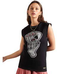 Superdry - T-Shirt Military Logo - Lyst