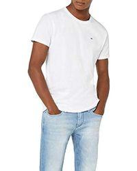 Tommy Hilfiger Uomo Original Jersey T-shirt Maniche corte - Bianco