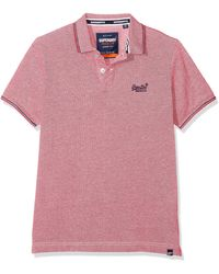 Superdry Classic Poolside Pique Polo Homme - Rose