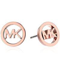 Michael Kors - Logo Haute Hardware Mk Logo Stud Earrings - Lyst