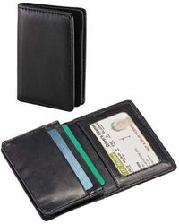 Samsonite Genuine Leather Business Card Wallet - Black