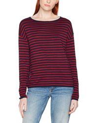 Tom Tailor Striped Sweater Sweatshirt - Blau