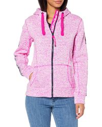 Superdry SD Storm Tape Ziphood Sweat-Shirt À Capuche - Rose