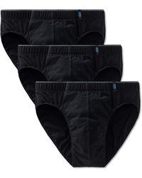 Schiesser - Slip 3er Pack - Supermini, Cotton Stretch, Uni, Serie 95/5 (schwarz (000), XL (X-Large, 3-Pack)) - Lyst