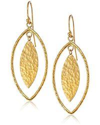 """Gurhan - Willow Geo 24k Gold Marquise Drop Earrings, 2"""" - Lyst"""