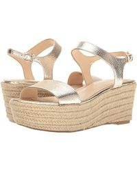 Nine West - Flownder Metallic Wedge Sandal - Lyst