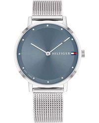 Tommy Hilfiger Reloj Analógico para Mujer de Cuarzo con Correa en Acero Inoxidable 1782149 - Azul