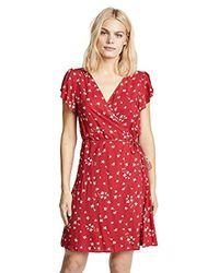 Velvet By Graham & Spencer - Amaury Floral Shortsleeve Wrap Dress - Lyst
