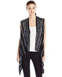 Kensie - Soft Cotton Knit Vest - Lyst