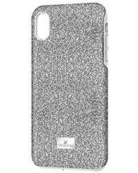Swarovski Coque argentée avec Cadre Amortisseur Iphone XR Max - Métallisé