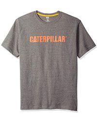 Caterpillar Stand-out Trademark T-shirt - Gray