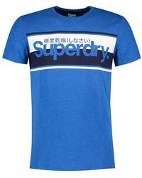 Superdry - Core Logo Stripe Tee Casual Shirt - Lyst