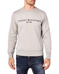 Tommy Hilfiger Tommy Logo Sweatshirt Sudadera - Gris