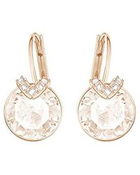 Swarovski Boucles d'oreilles Bella V, cristal rose, métal doré rose