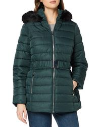 Dorothy Perkins Teal Jaquard Short Padded Jacket Quilted - Green
