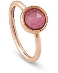 Nomination Diana Ring With Small Round Natural Stones - 16 - Pink