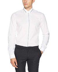 Calvin Klein - Padua Extra Slim Fit, Camicia Formale Uomo, Bianco (White 100), Medium - Lyst