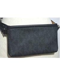 Michael Kors - Mk Leather Fanny Pack, Black, Size Large - Lyst