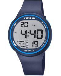 Calypso St. Barth Digital Quartz Watch With Plastic Strap K5795/3 - Grey