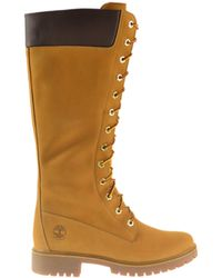 Timberland Earthkeepers Premium 14 Inch Zip Boots Wheat 8633a Brown