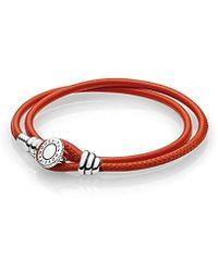 PANDORA - Femme Argent Bracelet en corde - 597194CSO-D1 - Lyst