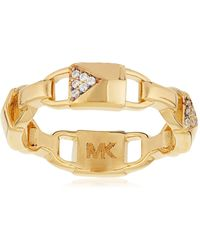 Michael Kors Ladies' Ring Mercer Link O Mkc1024an710506 - Metallic