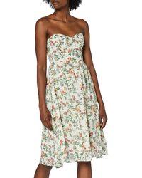 Tommy Hilfiger Tjw Hawaii Print Bandeau Dress Vestito - Rosa